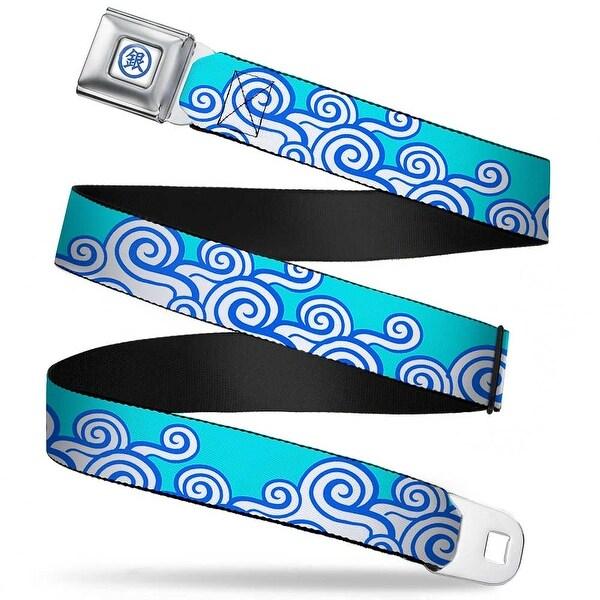 Crunchyroll Gintoki Kanji Full Color White Blue Gintoki Kimono Waves2 Aqua Seatbelt Belt