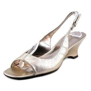 Etienne Aigner Tender   Open-Toe Leather  Slingback Heel