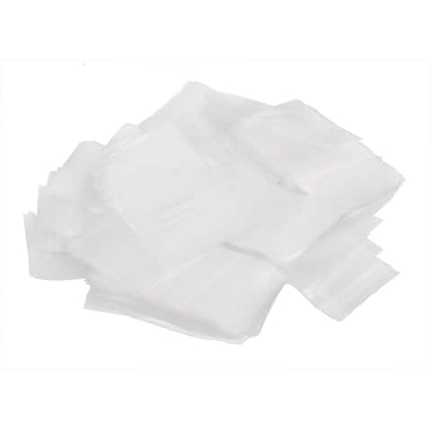 Plastic Self Adhesive Resealable Sealed Pocket Sealing Bags Clear 7 x 5cm 500pcs