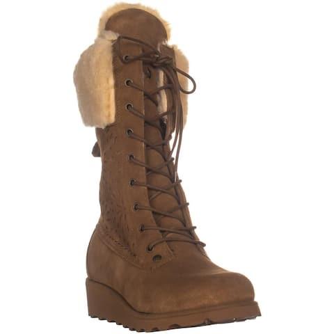 Bearpaw Kylie Mid-Calf Snow Boots, Hickory - 7 US / 38 EU