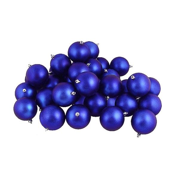 "60ct Matte Lavish Blue Shatterproof Christmas Ball Ornaments 2.5"" (60mm)"