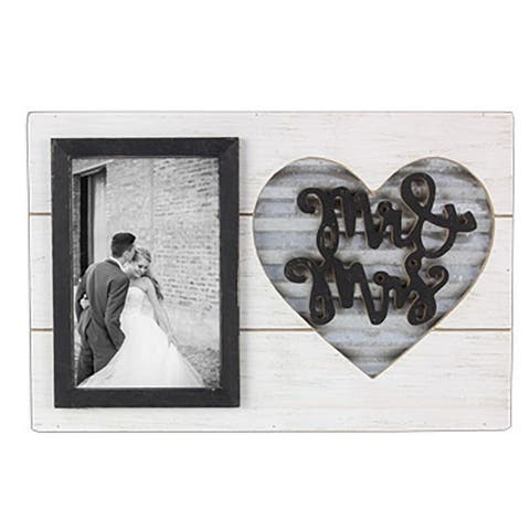 Wood Mr. & Mrs. Wedding 4X6 Picture Frame
