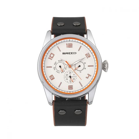Breed Rio Men's Quartz Multi-function Watch, Genuine Leather Band, Luminous Hands