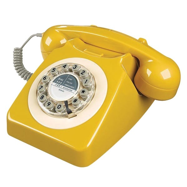 Working Retro Telephone - Land Line Desk Phone Jack Plug-In