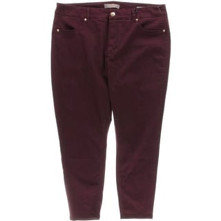 Seven7 Womens Plus Slimming Stretch Pencil Jeans