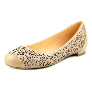 Nina Match Women Round Toe Leather Flats