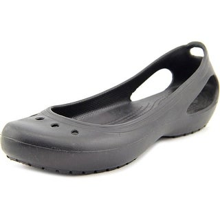Crocs Kadee Work Round Toe Synthetic Flats