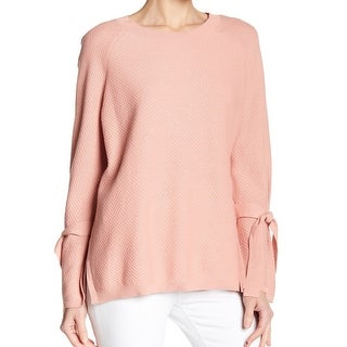 Two By Vince Camuto Pink Women's Size Large L Tie-Cuff Sweater