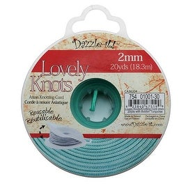 Lovely Knots - Chinese Knotting Cord 2mm Thick - Turquoise (20 Yards On Bobbin)