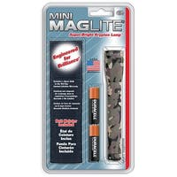 Maglite M2A02H Mini AA Incandescent Flashlight & Holster Combo Pack, Camo