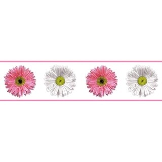 "RoomMates RMK1012BCS 5"" x 180"" - Flower Power - Self-Adhesive Repositionable Vin - N/A"