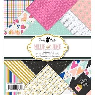 "Fancy Pants Designs Single-Sided Paper Pad 6""X6"" 36/Pkg-Millie & June, 12 Designs/3 Each"