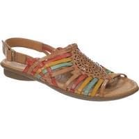 Naturalizer Women's Wendy Camelot/Red/Yellow/Turquoise Hispacho Leather