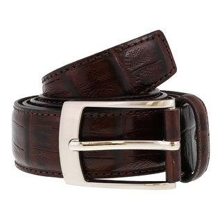 Renato Balestra PATRIZIO MARRONE Dark Brown Leather Mens Belt