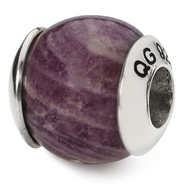 Sterling Silver Reflections Charoite Variegated Stone Bead (4mm Diameter Hole)