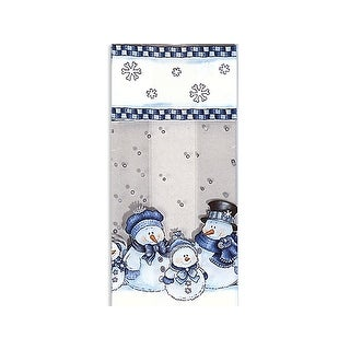 "Pack of 100, Snowman Kin 3.5 x 2 x 7.5"" Cello Bags 1.2 Mil for Christmas & Holiday, for Gift Baskets, Candy, Nuts or Items"