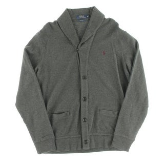 Polo Ralph Lauren Mens Estate Cardigan Sweater Long Sleeves Shawl Collar