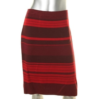 Anne Klein Womens Wool Blend Striped Pencil Skirt - L