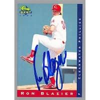 Ron Blazier Autographed Baseball Card - Philadelphia Phillies,
