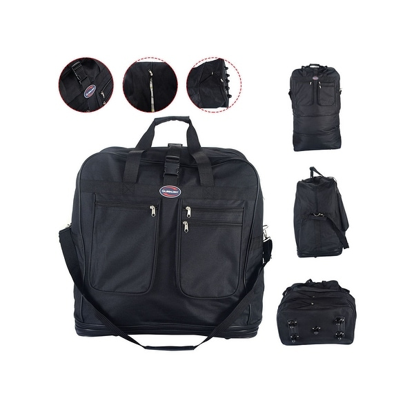 Costway 40  x27   x27  Rolling Wheeled Duffel Bag Spinner Suitcase Spinning 096a7561117f9