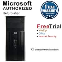 HP 6000 Pro Computer Tower Intel Core 2 Duo E8400 3.0G 4GB DDR3 1TB Windows 10 Pro 1 Year Warranty (Refurbished) - Black