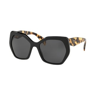 Link to Prada PR 16RS 1AB5S0 56 Black Woman Irregular Sunglasses Similar Items in Women's Sunglasses
