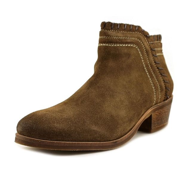 MTNG 97023 Women Round Toe Suede Brown Ankle Boot