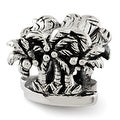 Sterling Silver Reflections Palm Trees Bead (4mm Diameter Hole) - Thumbnail 0