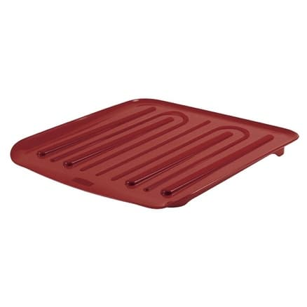 "Rubbermaid 1180-MA-RED Dish Drainer Tray, 14-1/4"" x 15-1/2"", Plastic, Red"