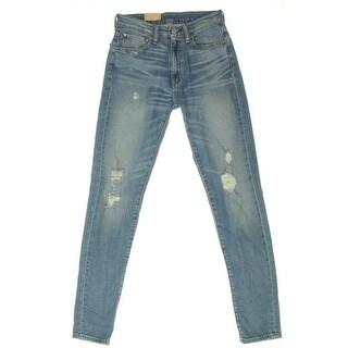 Denim & Supply Ralph Lauren Womens Skinny Jeans Denim Distressed - 26