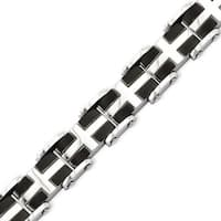 Stainless Steel IP Black Plated & Polished 8.75in Bracelet