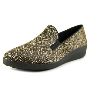 FitFlop Pop Skate Round Toe Synthetic Flats