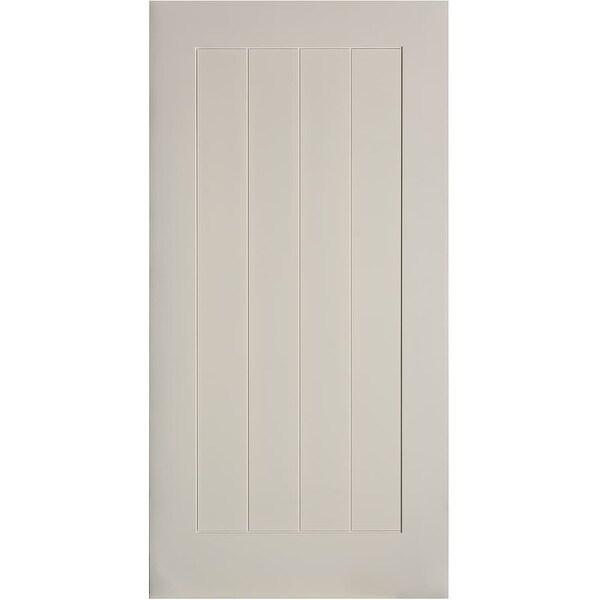 "Trimlite 36701388401B 42"" by 84"" Plank Interior Barn Door Only - Primed"