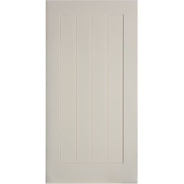 "Trimlite 40701388401B 48"" by 84"" Plank Interior Barn Door Only - Primed"