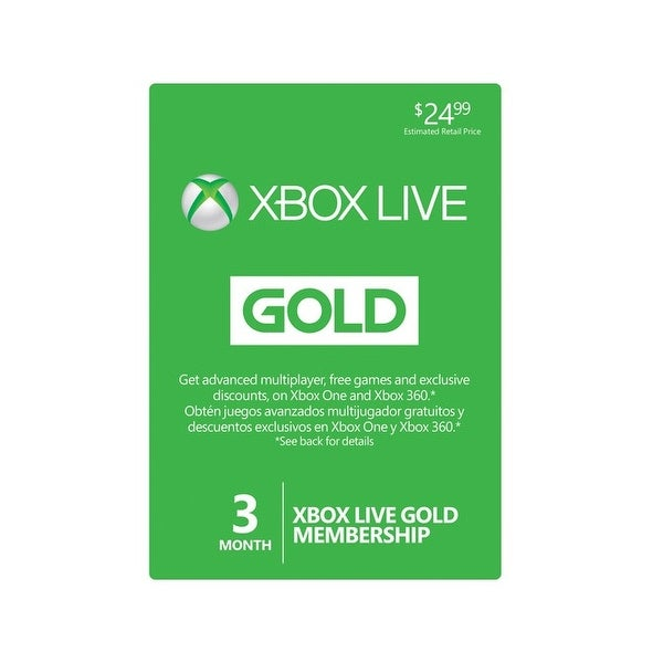 Xbox Live Cards 33631 Microsoft Live 3 Months Game Cards