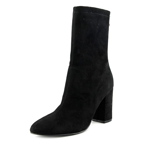 Guess Amary Women Round Toe Canvas Black Mid Calf Boot