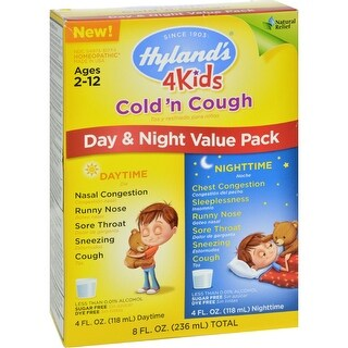 Hylands Homepathic Cold 'n Cough - 4 Kids - Day Night Val - 4 fl oz - 2 ct