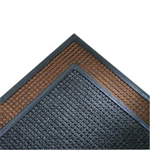 Crown SSR310DB Super-Soaker Wiper Mat with Gripper Bottom Polypropyl 34 x 119 Dark Brown