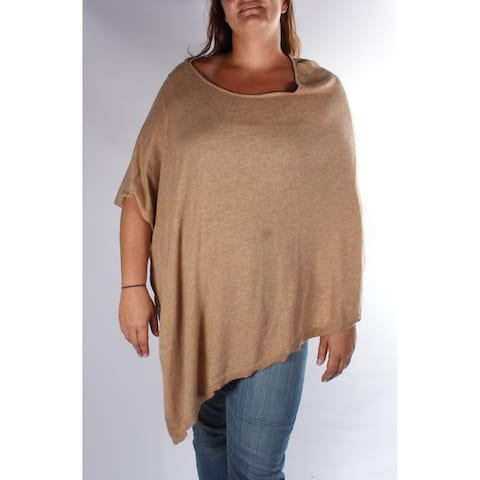 INC Womens Brown Dolman Sleeve Boat Neck Sweater Size: L