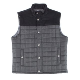 Club Room NEW Deep Black Mens Large L Mixed Media Quilted Vest Jacket|https://ak1.ostkcdn.com/images/products/is/images/direct/8a2f65e0b24a62d665c838c688c24b65988e4141/Club-Room-NEW-Deep-Black-Mens-Large-L-Mixed-Media-Quilted-Vest-Jacket.jpg?impolicy=medium