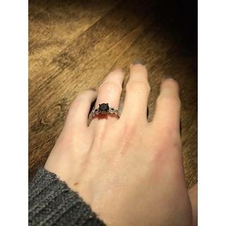Miadora 10k White Gold 1 1/4ct TDW Round Black Diamond Engagement Ring