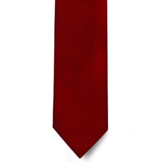 Men's 100% Microfiber Burgundy Tie