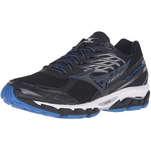 Mizuno Men's Wave Paradox 3 Running Shoe, Black/Skydiver/White, 12 D US