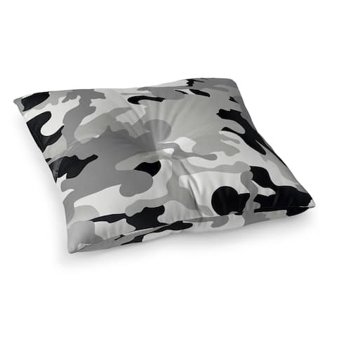 CAMO FLOW GREY Floor Pillow by Kavka Designs