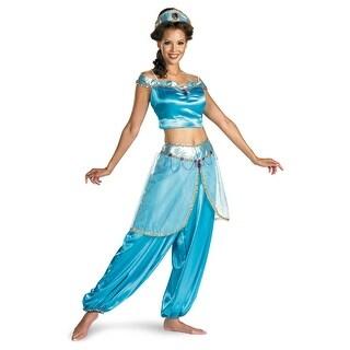 Disney Aladdin Deluxe Princess Jasmine Adult Costume Medium 8/10