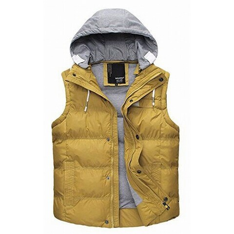 Danjieshi Yellow Womens Size XXL Puffer Layered Look Vest Jacket