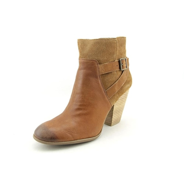 Sole Society Hollie Women Round Toe Leather Bootie