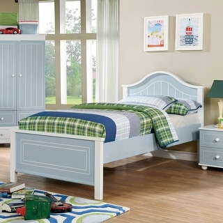 Link to Furniture of America Iris Blue and White Contemporary Platform Bed Similar Items in Kids' & Toddler Furniture
