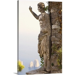 Premium Thick-Wrap Canvas entitled Close-up of a statue of Emperor Augustus, Monte Solaro, Capri, Campania, Italy (4 options available)