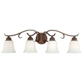 Vaxcel Lighting W0187 Hartford 4 Light Wall Sconce with Bell Shaped Frosted Glass Shade